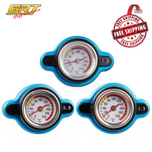 Free Shipping Temperature Gauge with Utility safe 0.9 and 1.1 and 1.3 bar Thermo Radiator Cap Tank Cover without logo