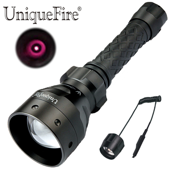UniqueFire 1406 IR 850NM LED Flashlight Zoomable Focus Infrared Light Night Vision Torch with Pressure Switch for Night Hunting
