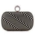 Personalidade Zebra Impresso Saco de Embreagem Anel de Dedo Bolsa Mini Bolsa de Ombro Cadeia Saco da Noite de Casamento Das Mulheres Do Partido Da Bolsa Da Carteira