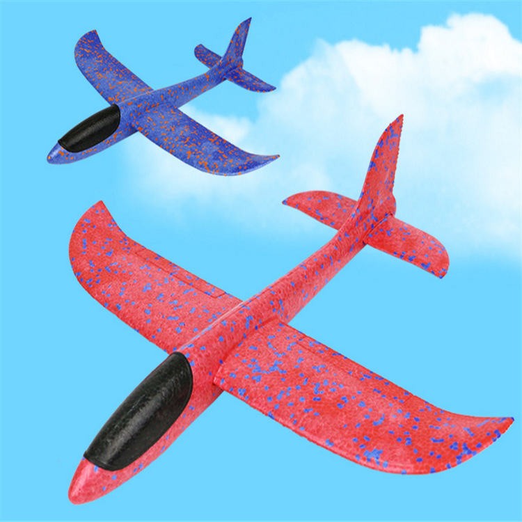 EPP Foam Hand Throw Airplane Control Toys Outdoor Launch Glider Plane Kids Gift Toy 36cm Interesting Toys