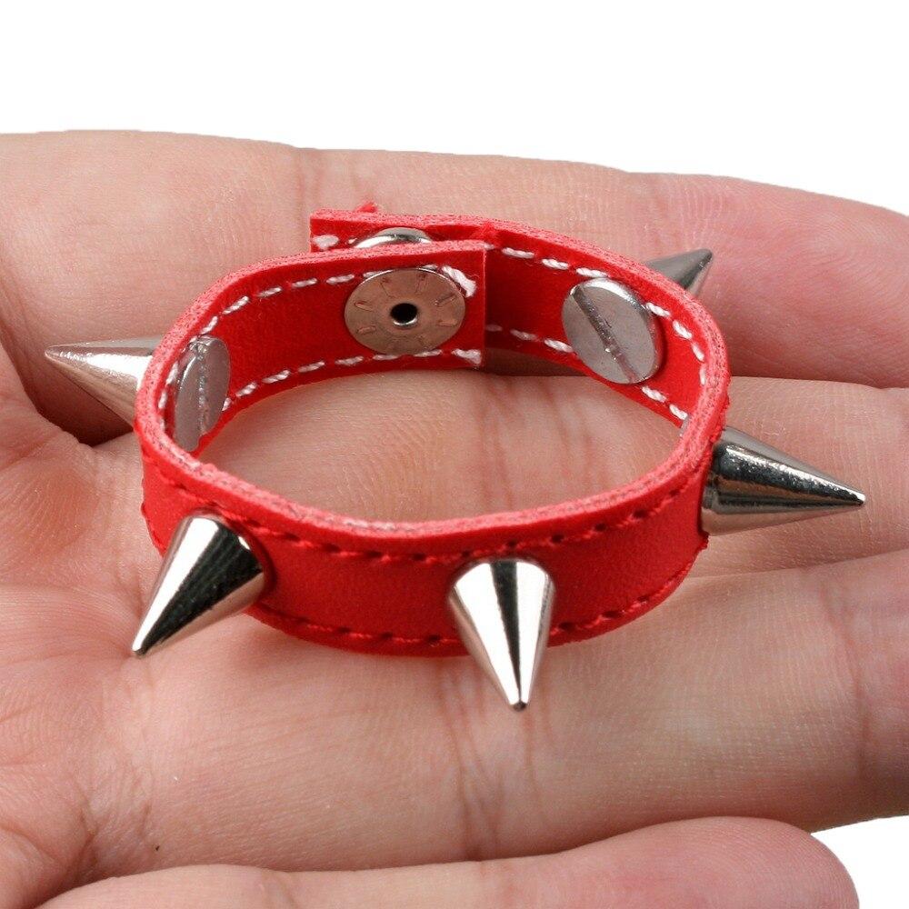 16# Red Synthetic Leather Rivet Neck Strap//Belt 1//3 SD DZ BJD Dollfie wamami