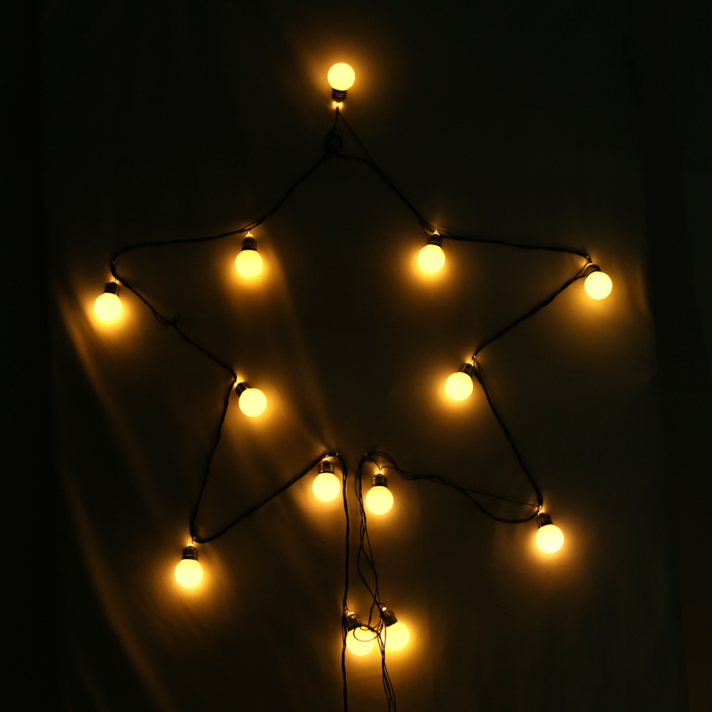 Lovely 20pcs BZ487 EU Plug Large Bulbs String Lights Lamp Warm White Light Holiday  Outdoor For Christmas