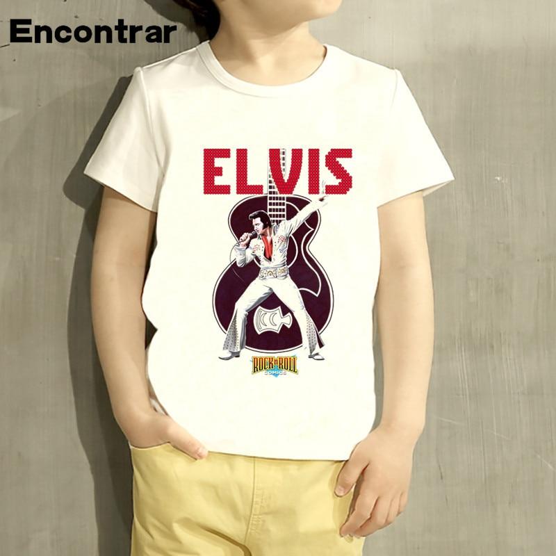 Kids ELVIS Presley The King of Rock Design Baby Boys/Girl TShirt Kids Funny Short Sleeve Tops Children Cute T-Shirt,HKP4108