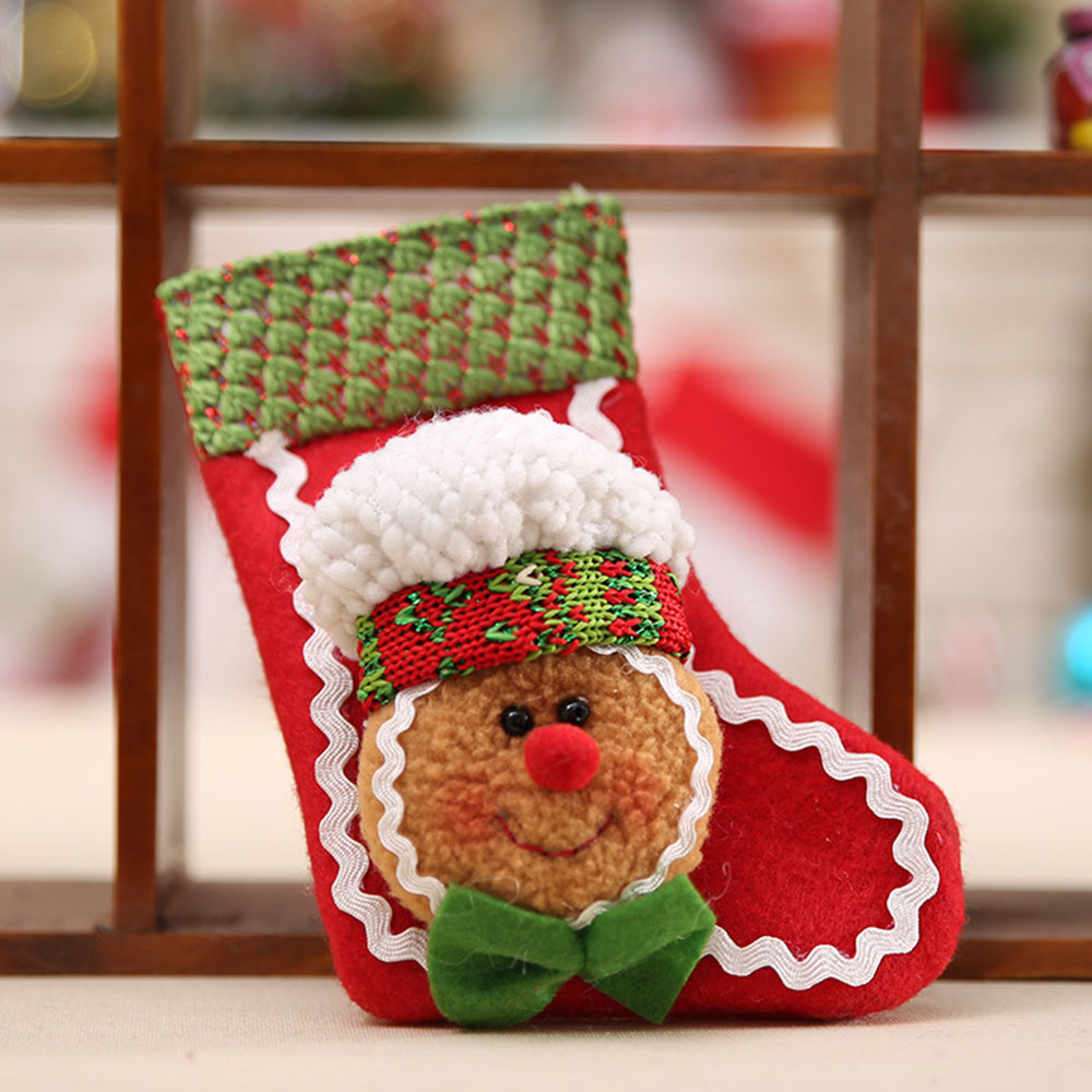 Baby Kids Christmas Bedding Rattles Hangings Ornament Decor Snow Man Xmas Sock Rattle Pendants Mobiles P25