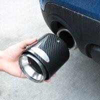 Углеродное волокно Нержавеющаясталь выхлопные трубы для автомобиля глушитель выхлопной трубы советы головных уборов для Mini Cooper One JCW S F55 F56