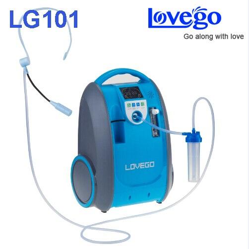 Delicato e Medie fase malattia consumatori utilizzano 5 litri Lovego concentratore di ossigeno portatile LG101