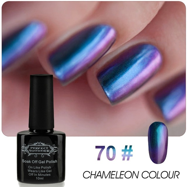 High Quality Newest Chameleon Change Nail Color UV Gel Polish 10ml 1pcs Nail Gel for Nail soak off gel polish