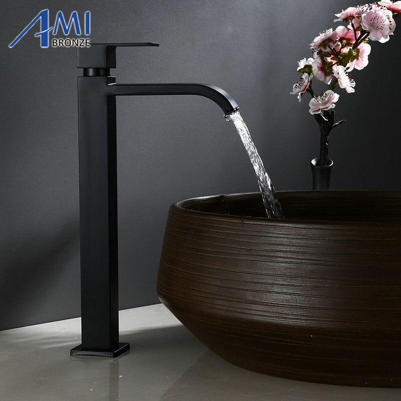 Amibronze, одиночный холодный кран, черная краска, для работы, кран для ванной, для бассейна, высокие краны, 304, нержавеющая сталь