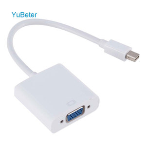 YuBeter Mini DP to VGA Video Adapter 1080p Thunderbolt Display Port to VGA Cables Mini DP to Vga Patch Cord ISO(China)