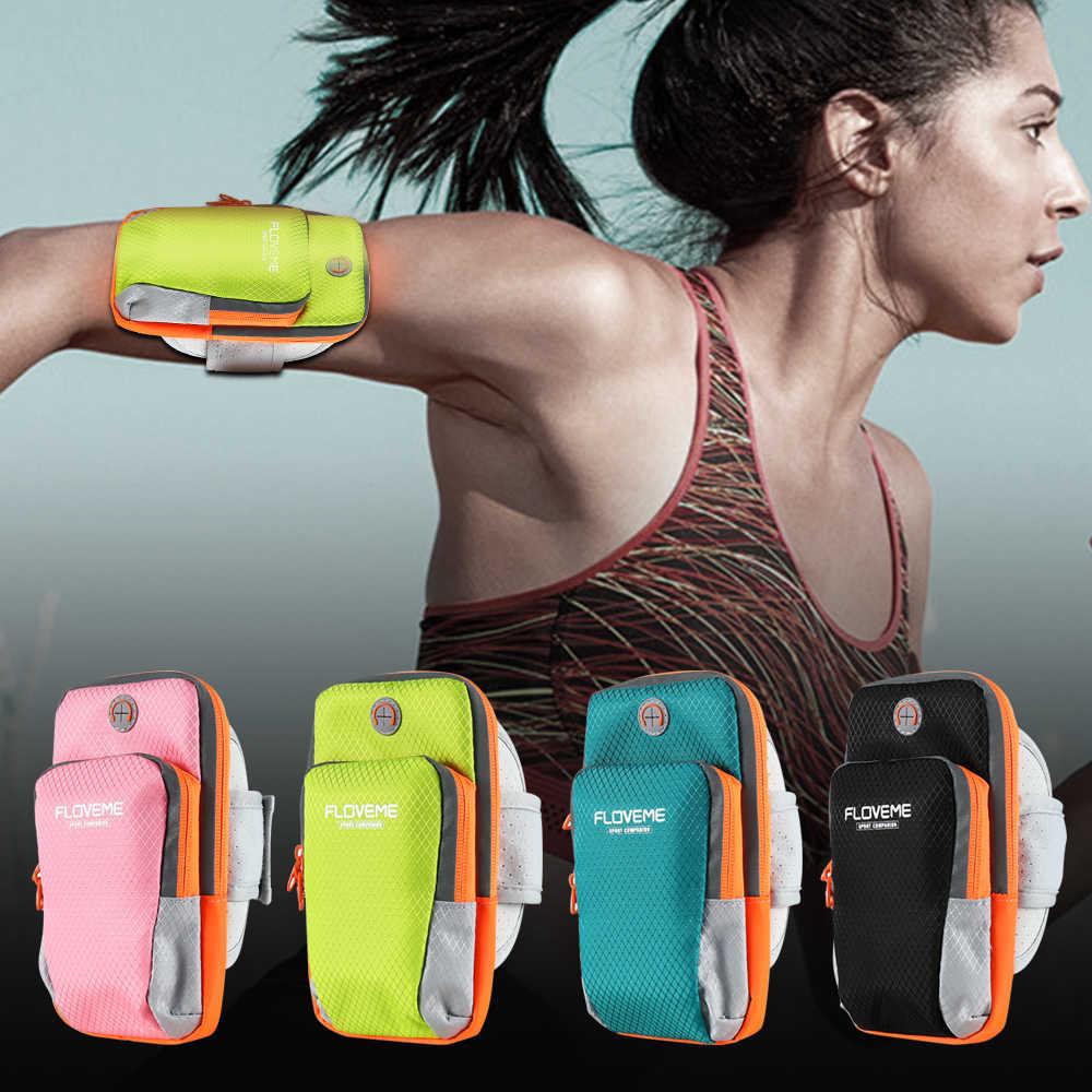 Floveme رياضة الجري الركض الهاتف ذراع حالة الفرقة حقيبة العالمي للجميع moblie الهواتف 3.5-6 بوصة للآيفون 7 8 7 زائد 6 6 زائد