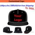 Whosale 100 ШТ./ЛОТ 500 USD Бесплатная Доставка Шляпу Конструкции Вышивка Логотипа Пользовательские Snapback Бейсболки Команд Шляпы для Взрослых Детей