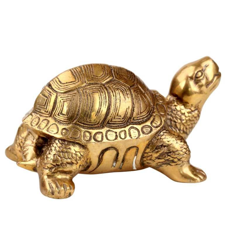 The copper tortoise turtle longevity Home Furnishing Figurine rich crafts decoration Symbolize wealth Animal figurine statue