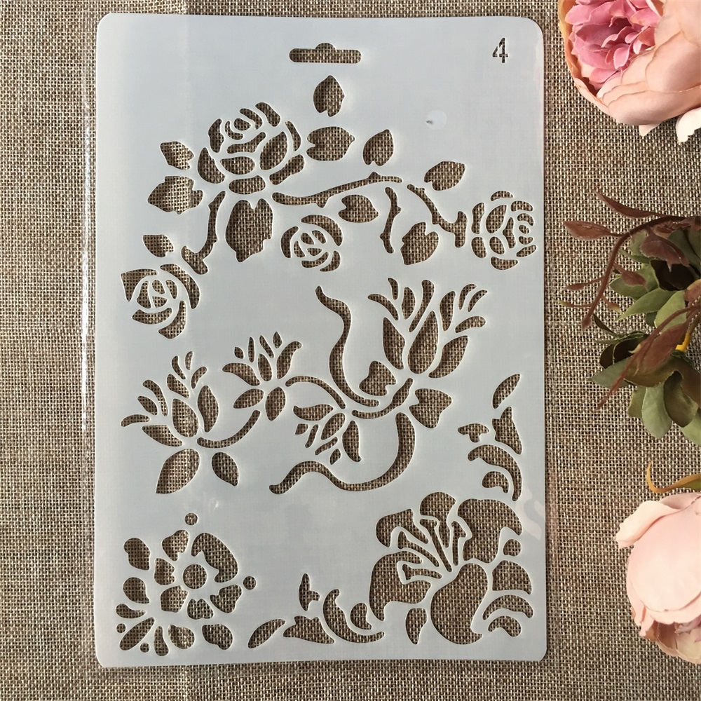 New 26cm Rose Flower DIY Craft Layering Stencils Painting Scrapbooking Stamping Embossing Album Paper Card Template