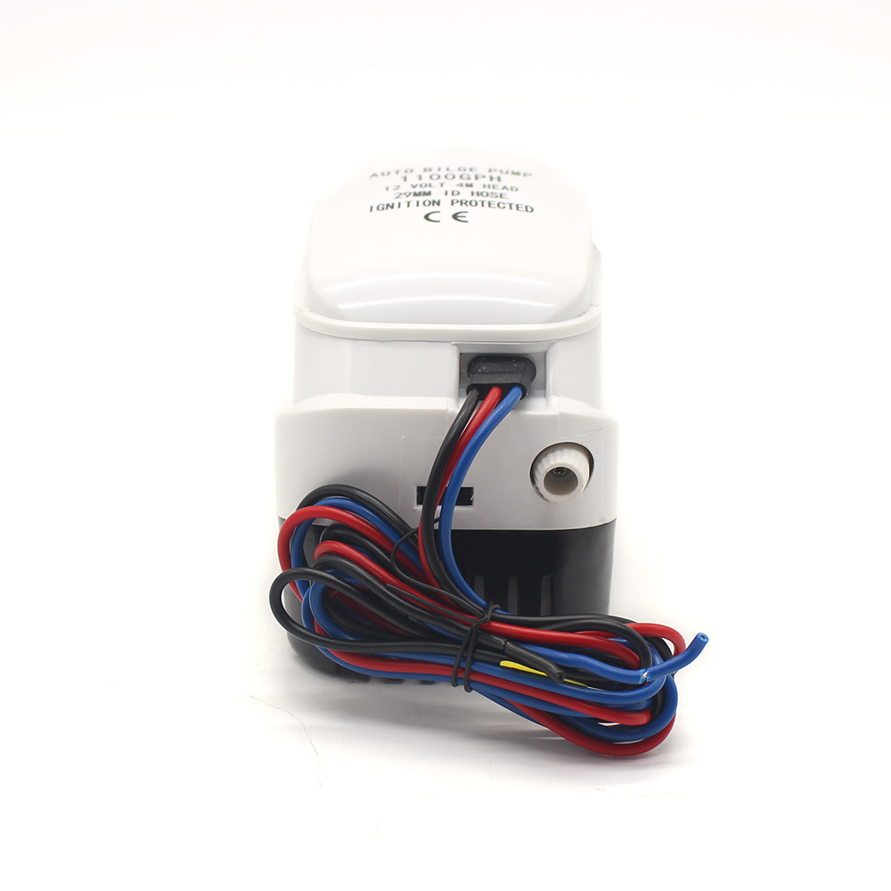 Automatic electric boat bilge pump with float switch 12V 24V 1100gph AUTO Water level control small submersible 12 v volt 1100