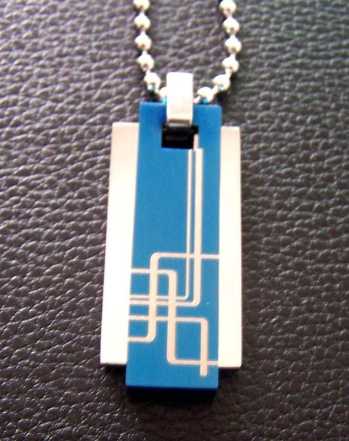 Popular hot sell 316L Guaranteed 100% Man's Stainless Steel Modish Pendant Necklace + free shipping