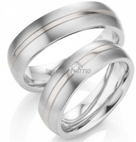 2014 custom tailo white gold color titanium steel engagement wedding ring sets for couples