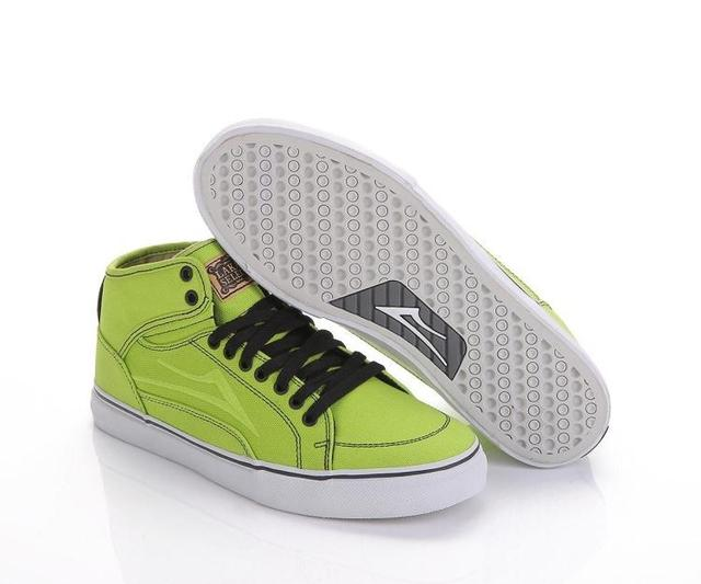 2016BOY SKATEBOARDING SHOES High Top Footwear Yellowed Green Canvas LAKAI Hard-Wearing Street Shoes