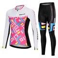 Femminile Abbigliamento Ciclismo Set 2019 Estate Pro Team MTB Bike Vestiti Delle Signore Cycling Jersey Set Anti-Uv Della Bicicletta di Usura vestiti Delle Donne