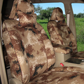 High Quality Universal Camouflage Automotive Car Seat Covers 10pcs Sets for Vehicle Camo Covers - Brown
