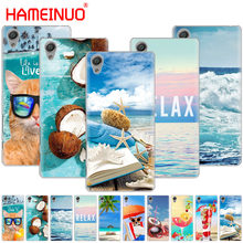 HAMEINUO summer beach wave sea Cover phone Case for sony xperia z2 z3 z4 z5 mini plus aqua M4 M5 E4 E5 E6 C4 C5(China)