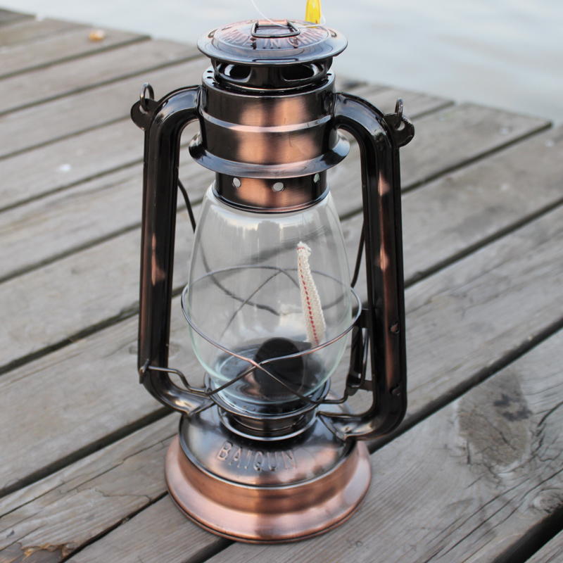Kerosene Lamp Classic Vintage Old Fashioned Retro Lantern BrownChina Mainland