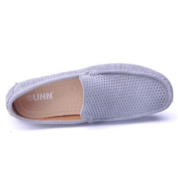 Hommes Chaussures De Conduite | UNN/брендовые модные летние стильные Мягкие Мокасины, мужские лоферы высокого качества, обувь из натуральной кожи, мужская обувь на плоской п...