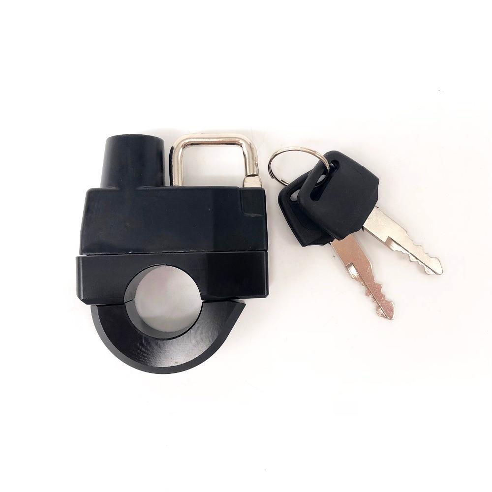 FOR HARLEY-DAVIDSON XL 883 1200 Motorcycle Universal 25mm Handlebars Helmet Lock Key Padlock Accessories