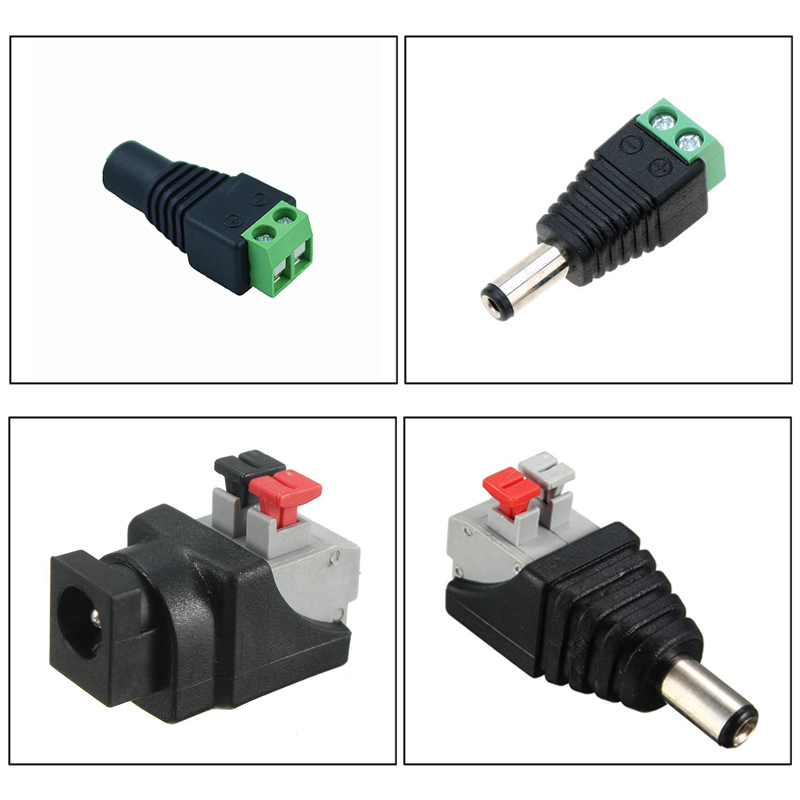 DC Male Female Connector Tool-free Apply Free Welding Plug Adapter for 3528 5050 Single Color <font><b>2</b></font> <font><b>pin</b></font> <font><b>led</b></font> <font><b>strip</b></font> wire connector image