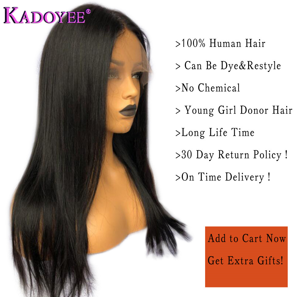 straight human hair lace front wigs for black women (1)