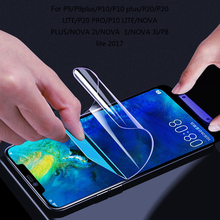 For Huawei P20 Lite Hydrogel Film For P9 P10 Plus LITE P20 Lite Pro NOVA 2 3 i PLUS P8 lite 2017 Screen Protector Not Glass for huawei p20 lite hydrogel film for p9 p10 plus lite p20 lite pro nova 2 3 i plus p8 lite 2017 screen protector not glass