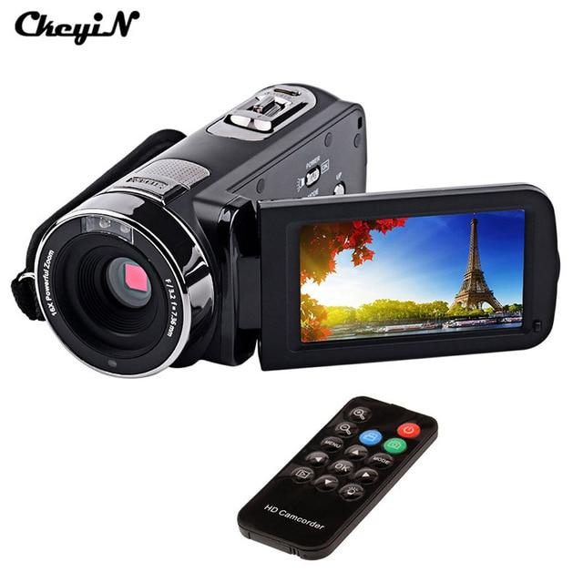 """3.0 """"Tela LCD 24MP Full HD Filmadora Digital 16X Zoom Night Vision Filmadora Com Controle Remoto + 270 degreen Rotação da tela PJ"""