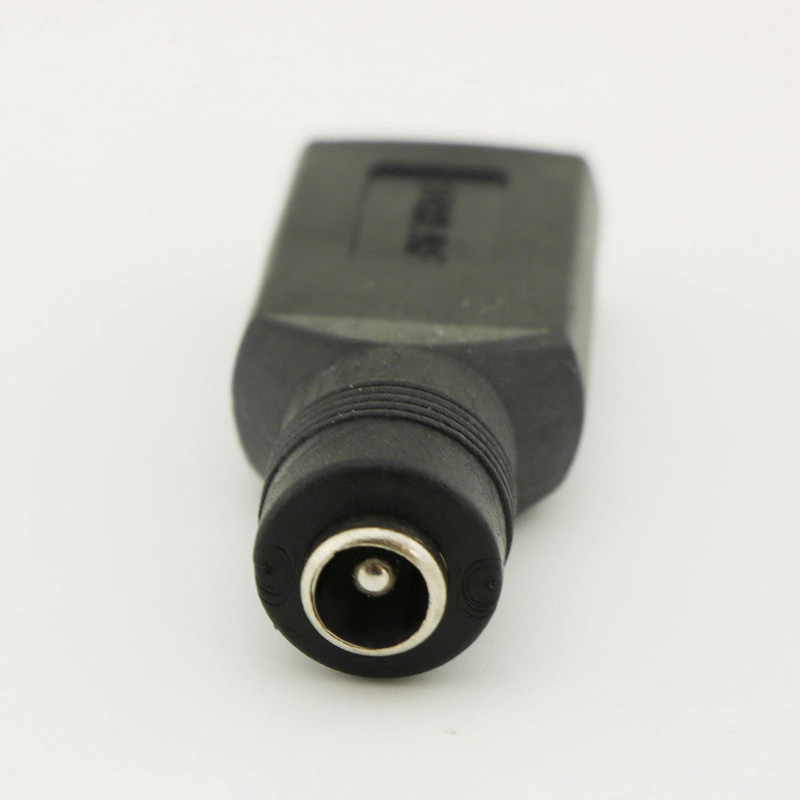 USB Female to 5.5mm x 2.1mm Female DC Power Converter Charger Adapter Connector 8 @88 DJA99
