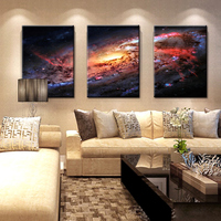 Space And Universe Canvas Print Space Landscape Paintings Wall Art Decor Universe Galaxy Stars 3 Piece