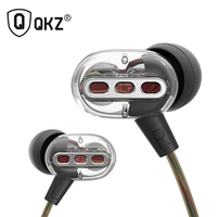 Newest QKZ KD8 Double Unit Drive In Ear Earphone Bass Subwoofer Earphone HIFI DJ Monito Running