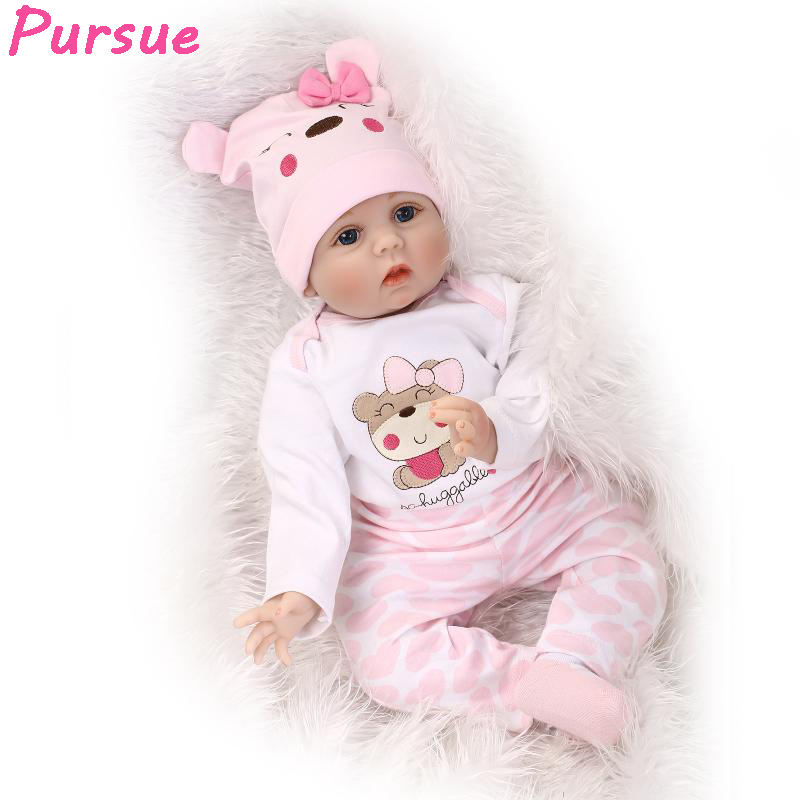pursue baby reborn silicon girl cloth body reborn dolls
