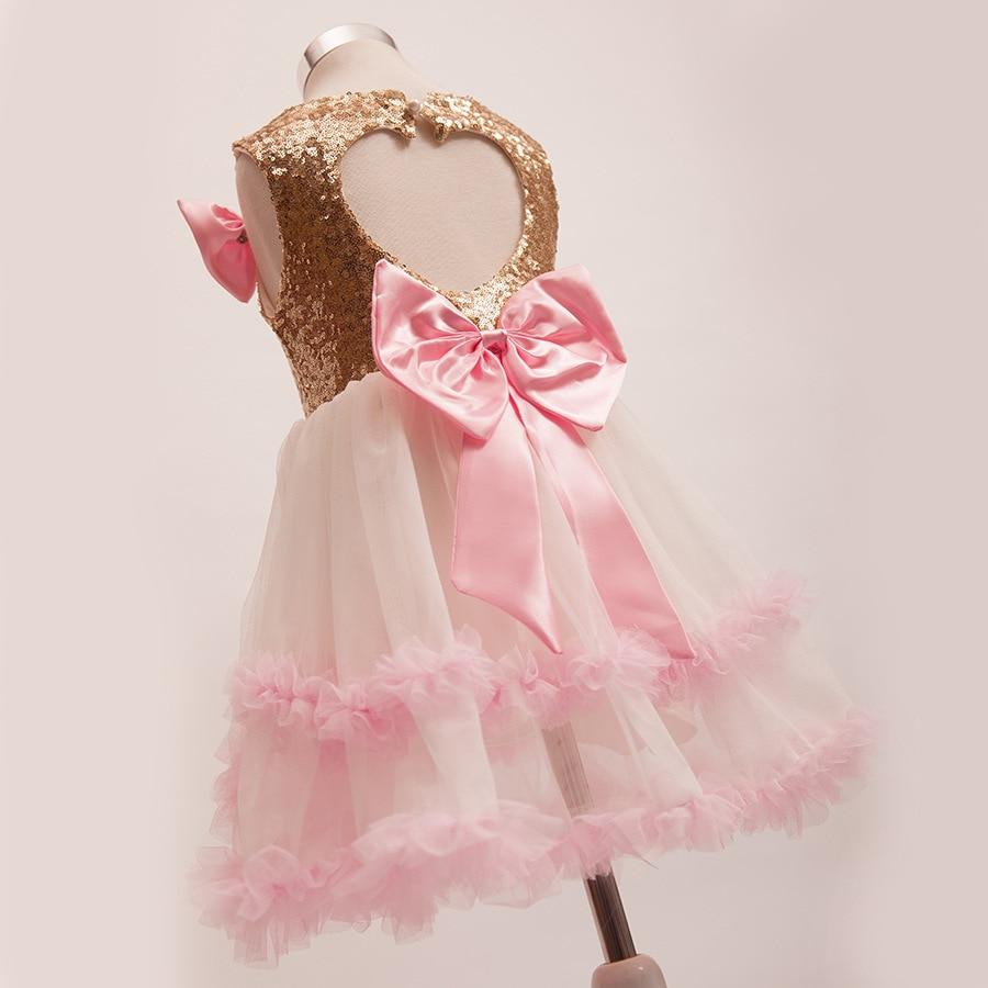 Dorable Vestido De Fiesta De Lentejuelas De Oro Ideas Ornamento ...