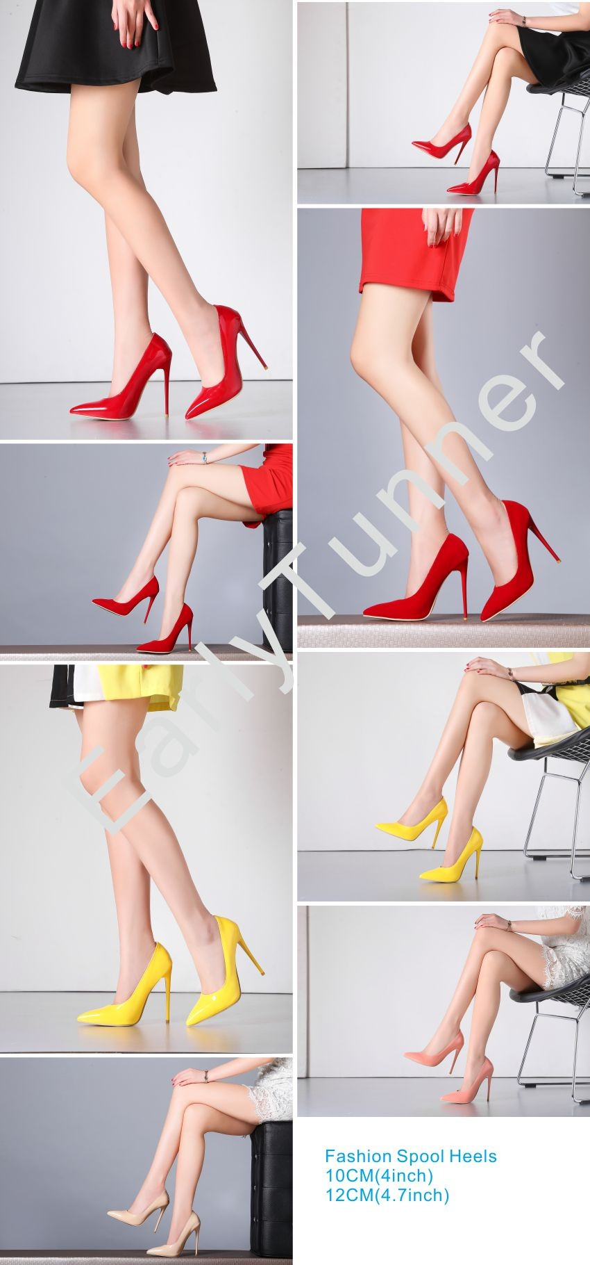 31bb5c1d5eb Brand New Sexy Red White Black Women Nude Formal Pumps Ladies Glossy ...