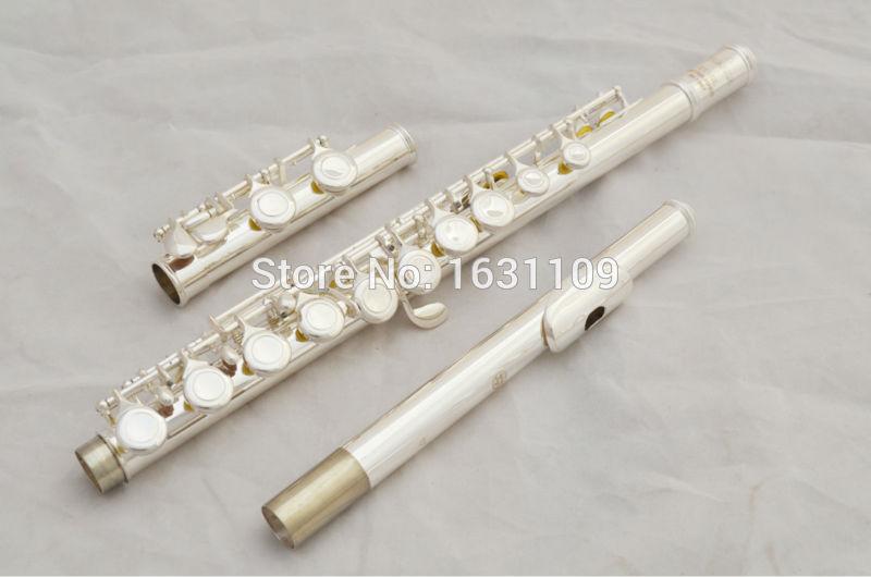 Music fancier Club New High Quality Brand Flute 371 Silver Plated 16 Closed Holes C Key