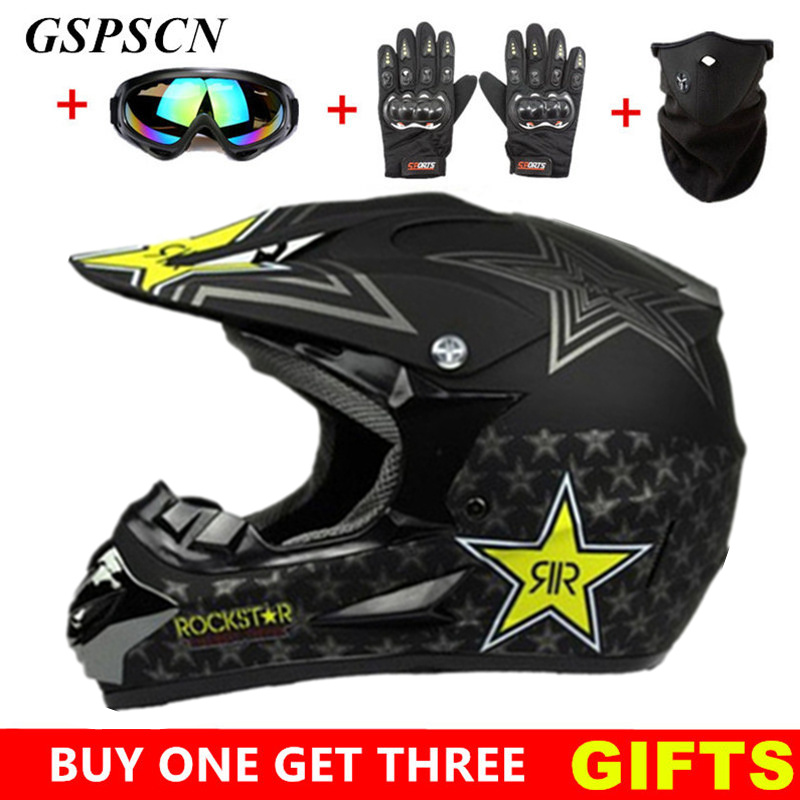 купить GSPSCN Motocross Helmet Off Road Professional ATV Cross Helmets MTB DH Racing Motorcycle Helmet Dirt Bike Capacete de Moto casco онлайн