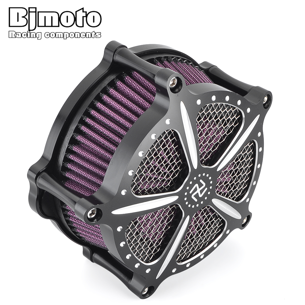 BJMOTO Motorcycle Parts Air Cleaner Intake Filter System Kit Motor Bike For Harley Sportster XL 883 1200 2004 2016