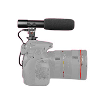 Camera Stereo Microphone Camera Mounted Shotgun MIC 01 3 5mm Digital SLR Recording Microphone For Canon