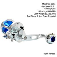 Gomexus Jigging Reel Saltwater Fishing High Speed 6:1 Sea Game Fishing 15W 30lbs Silky Smooth Extra Light Right and Left Hand