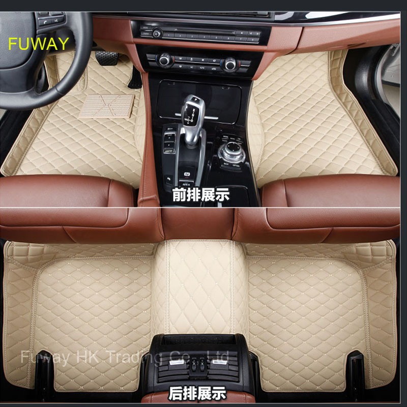 Custom car floor mats for Jaguar All Models XF XE XJ F-PACE F-TYPE brand firm soft car accessorie car styling auto floor mat for land rover lr4 discovery 4 trunk security shield cargo cover shade black 2010 2011 2012 2013 2014 2015