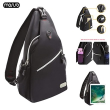 MOSISO Backpack Men School Student Laptop Backbags for Ipad Women Sling Anti Theft Travel Waterproof Chest Bag