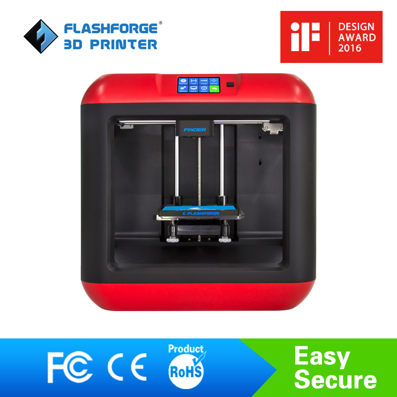 Flashforge 3D Printer Finder Diy 3D Printer Kit Auto Leveling Removable platform Single extruder with/1 spool PLA filament ship from european warehouse flsun3d 3d printer auto leveling i3 3d printer kit heated bed two rolls filament sd card gift