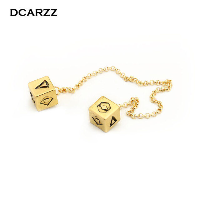 US $38 7 10% OFF|Big Antique Gold Color Han Solo Lucky Dice Prop,1 25 cm  Dice Bracelet Star Wars Hanging Dangle Ornament Decoration Wholesale-in  Charm