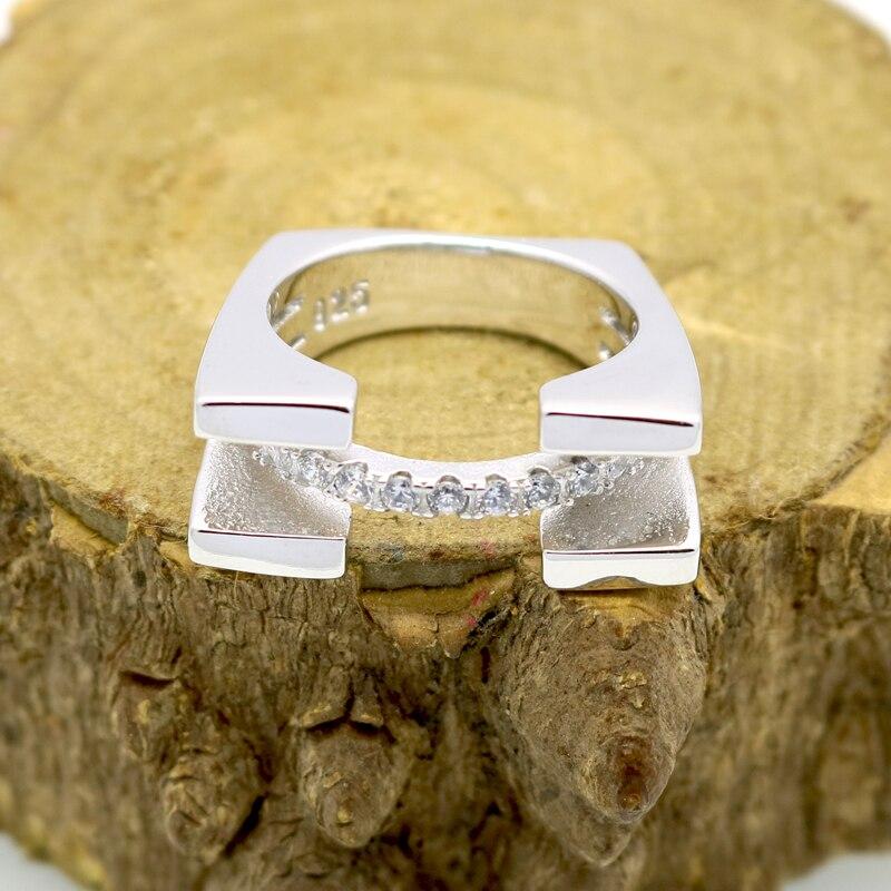 Modni nakit Srebrni prsten za žene Kubični cirkonij kamen Dame - Modni nakit - Foto 2