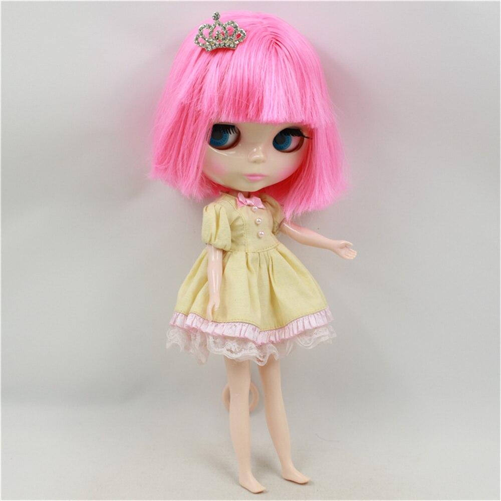 Fabriek Blyth Pop Naakt Pop Roze Kort Haar Met Pony Roze Mond Normale Body 4 Kleuren Voor Ogen Geschikt Voor DIY-in Poppen van Speelgoed & Hobbies op  Groep 2