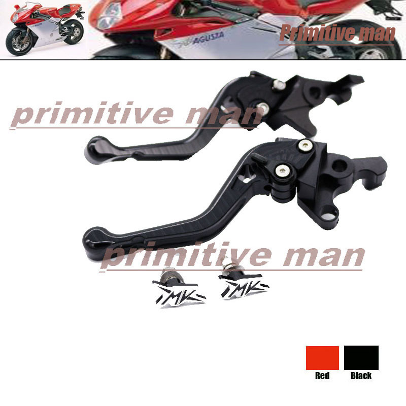 ФОТО For MV Agusta F4 750 1000 312R 312RR Motorcycle Short Brake Clutch Levers+License Plate Screw Black