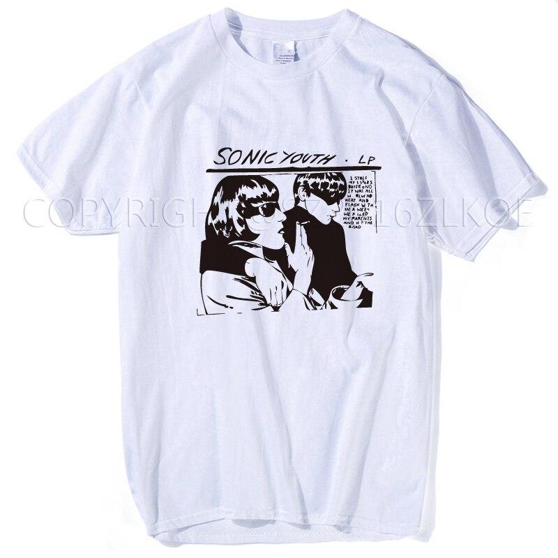 Sonic juventud camiseta hombres Funny vocals DE LA ROCA banda bajo guitarra punk rock mujeres persionalized tee más tamaño 3xl